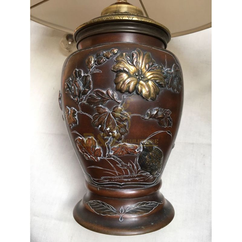 New design cast brass plant flower pot sculpture for sale