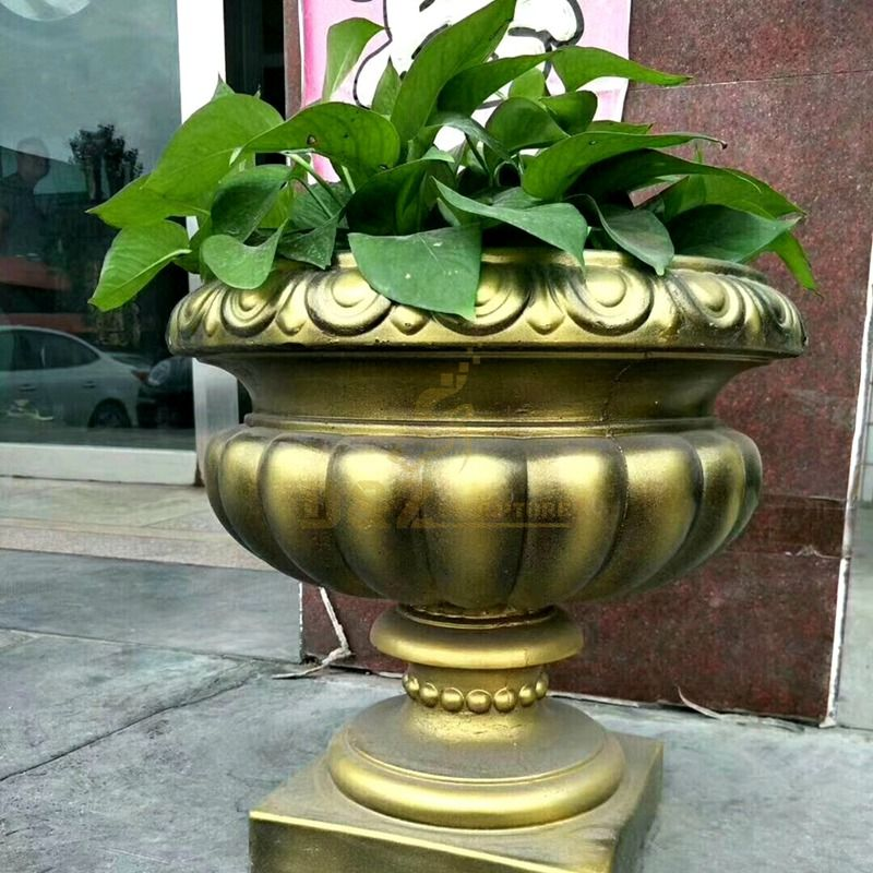Garden decoration metal craft bronze flower pot vases sculpture