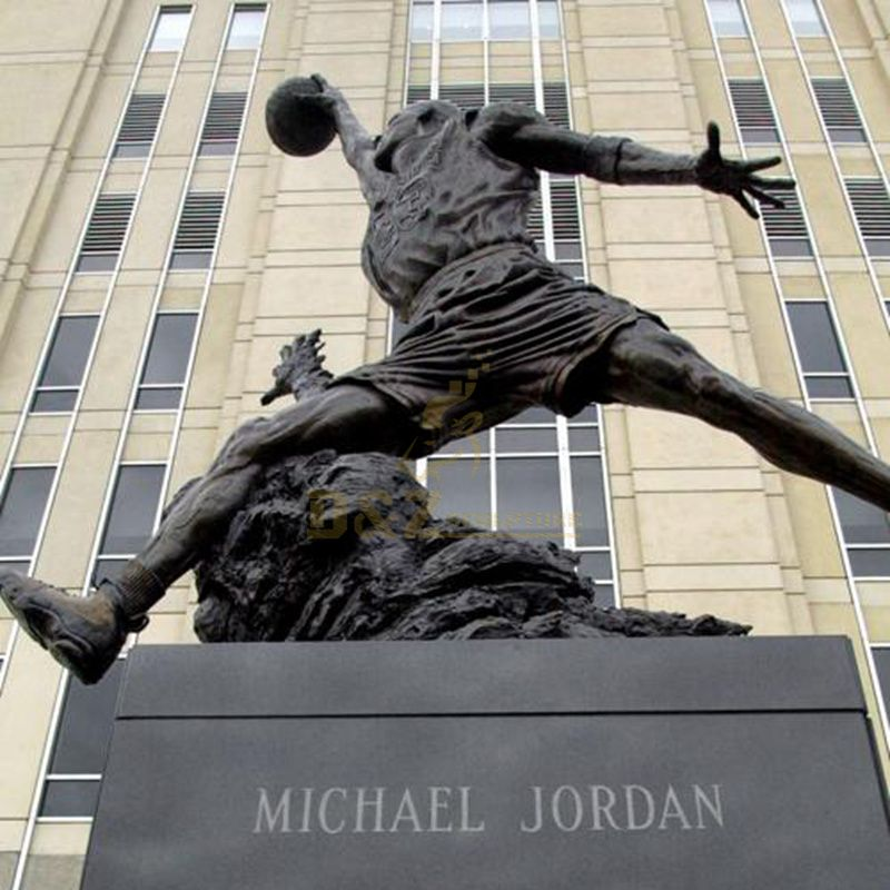 Bronze basketball Player Michael Jordan sculpture