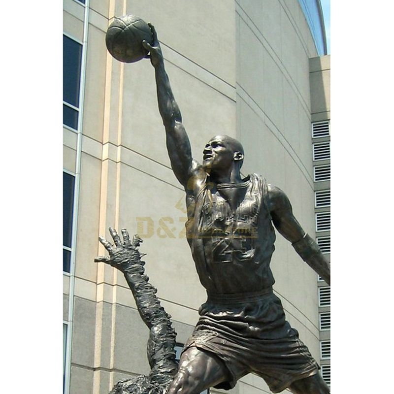 Garden Decorative Casting Bronze Jordan Statue
