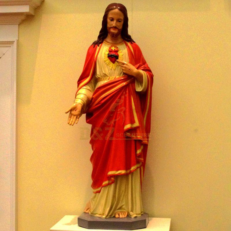 Factory Custom Life Size Fiberglass Passion Of Jesus Statue