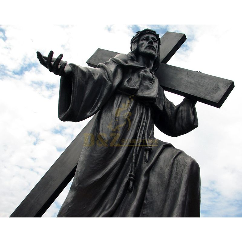 Custom Made Jesus On The Cross Figurines For Outdoor Decorative