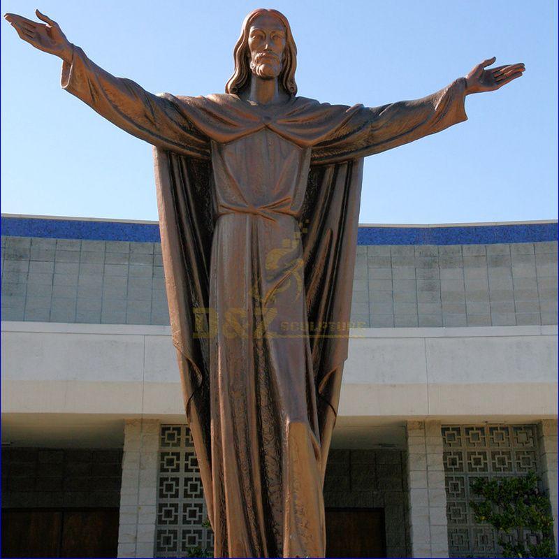 Outdoor Life Size Church Religious Sculpture Bronze Jesus Statue