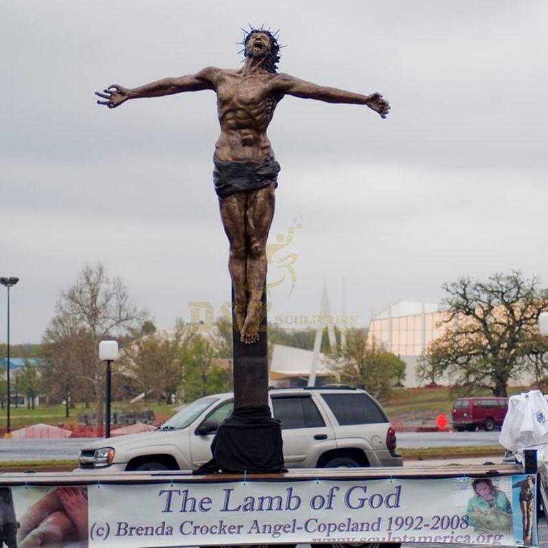 Customized Outdoor Church Decoration Life Size Jesus Christ Statue Praying
