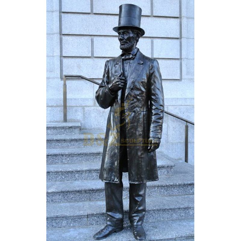 Outdoor park decoration famous bronze life size Lincoln statue