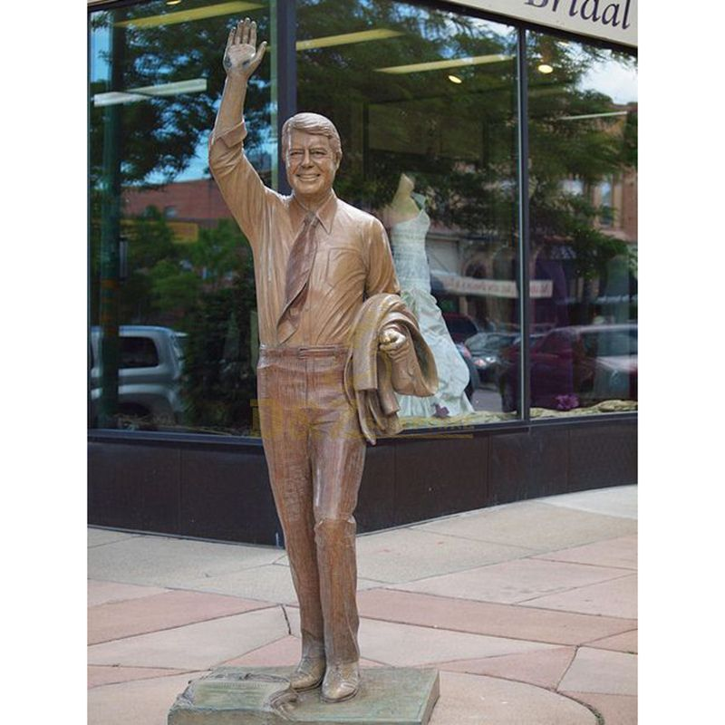 Life Size USA Thirty-Fifth President Bronze Sculpture
