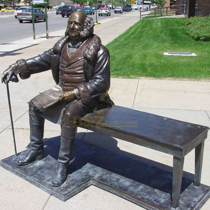 Garden America President Sitting Bronze Martin Van Buren Sculpture for Sale