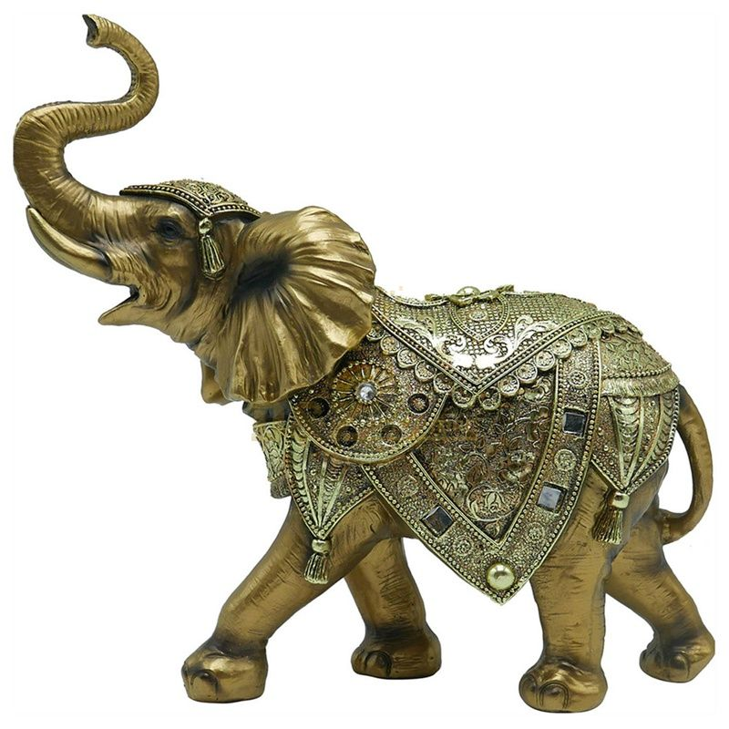 Outdoor customized garden bronze elephant statue