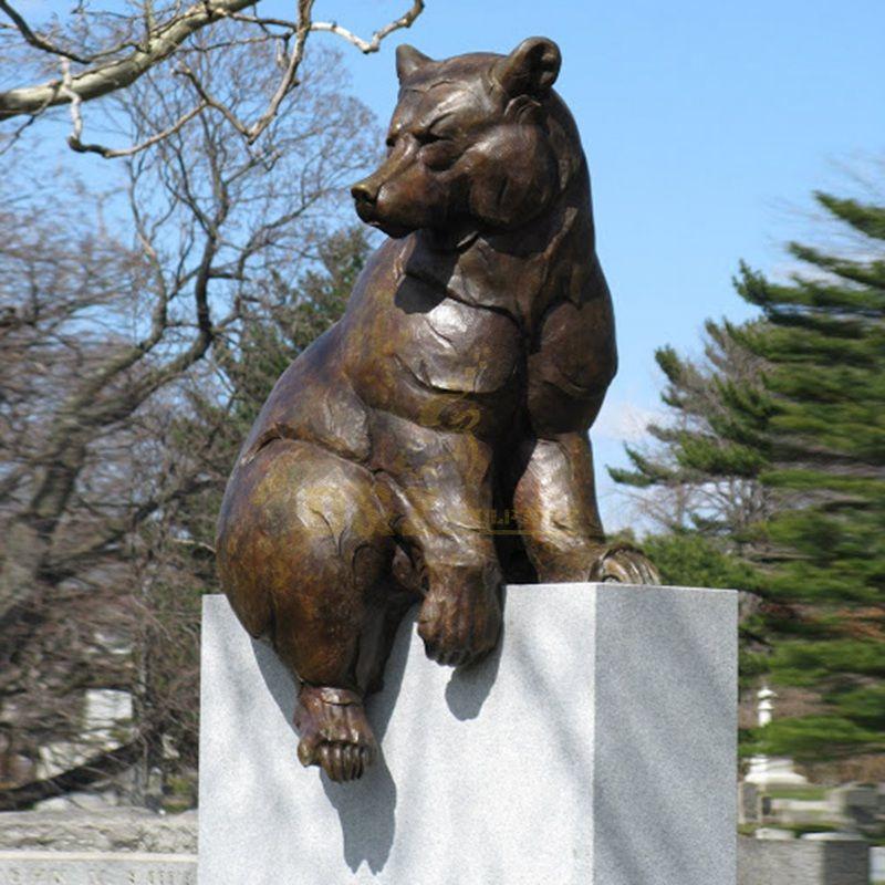 Life Size Garden Famous Statue Bronze Bear Sculpture