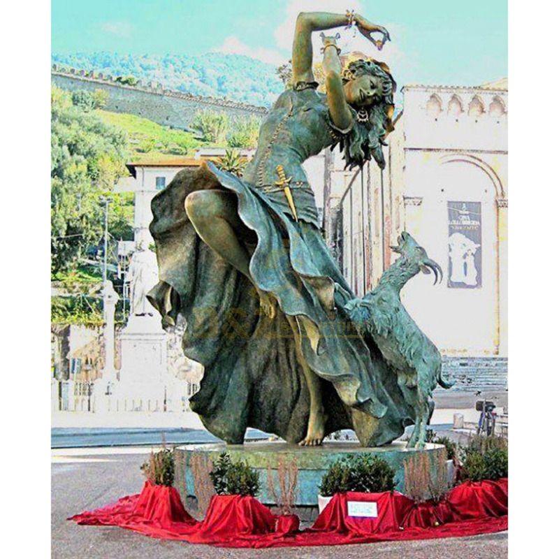 High Quality Girl Figure Bronze Sculpture
