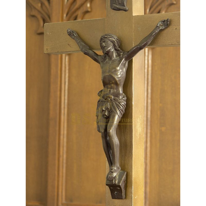 Life Size Bronze Figure Sculpture Religious Jesus On Cross Statue