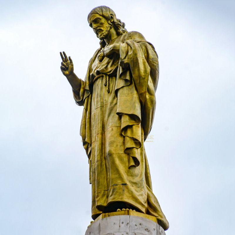 Modern Decoration Cast Bronze Jesus Christ Blessing Statue