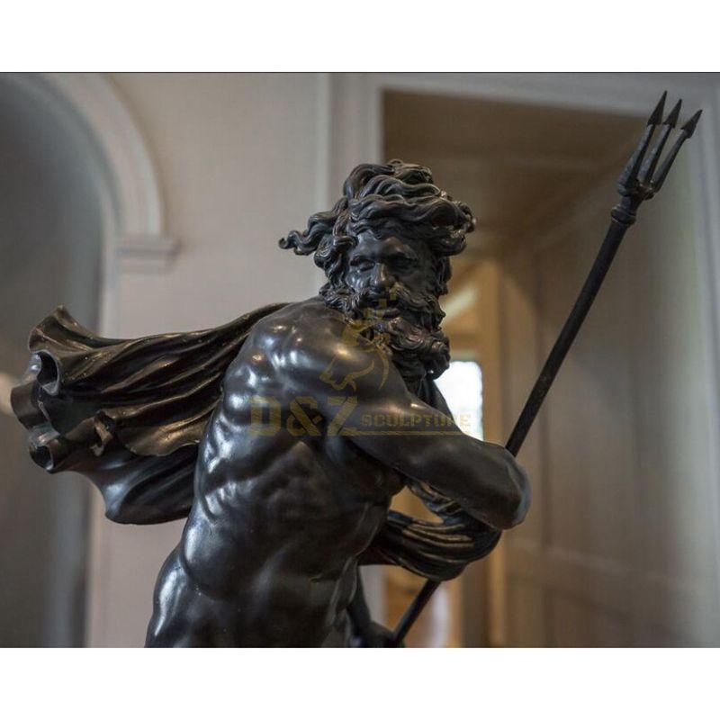 Hot Selling Custom Bronze Cast King Neptune Sculpture