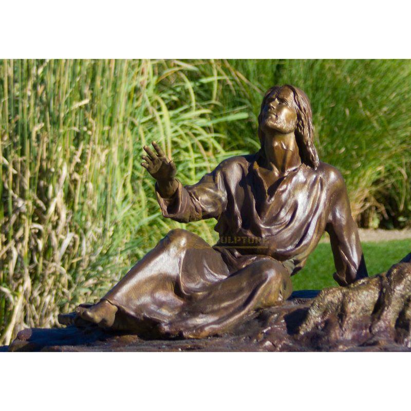 Life Size Antique Metal Art Outdoor Decorative Bronze Jesus Risen Up Statue