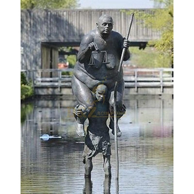 Woman Statue Bronze Woman Statue Fat Woman Art Sculpture
