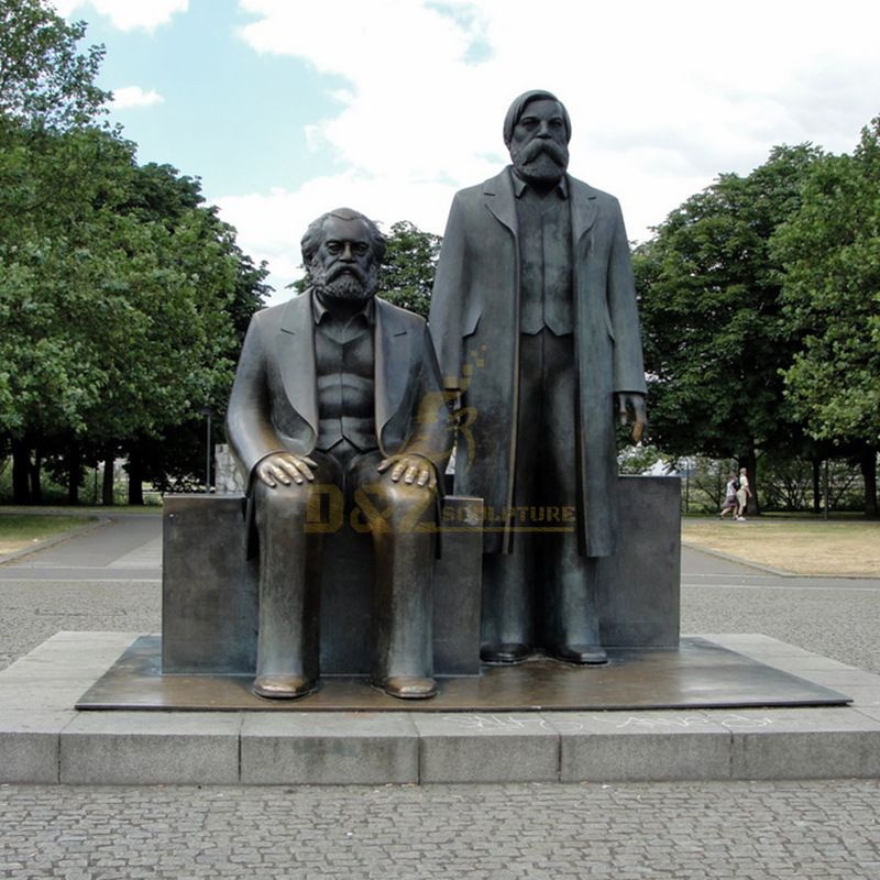 Large Outdoor Famous Bronze Marx and Engels Sculpture