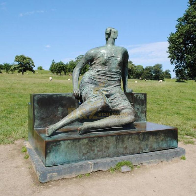 Custom famous figure sculpture bronze reclining lady statue