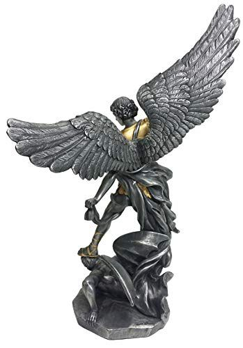 Church decor religious angel bronze St.Michael sculpture