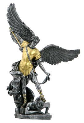 Garden decor life size bronze saint michael archangel statue