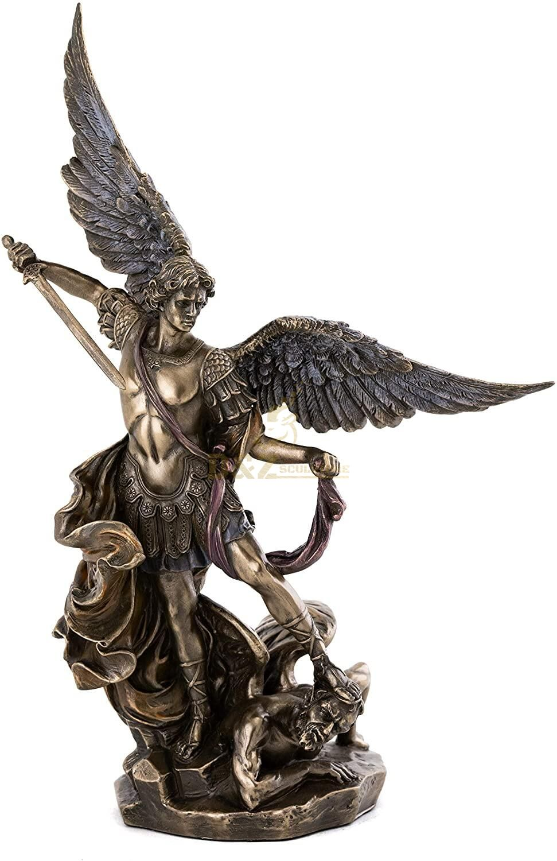 Church decor religious angel bronze St.Michael sculpture