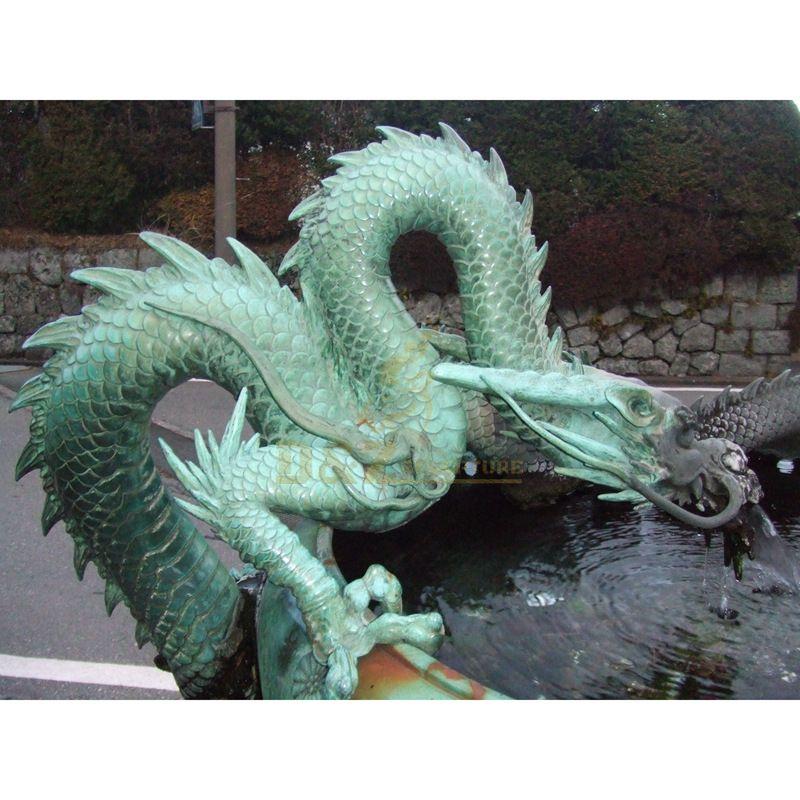 Popular Design Bronze Dragon Water Fountain