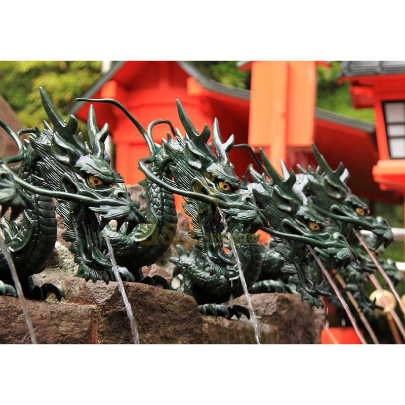outdoor decorative chinese large bronze dragon statue for sale