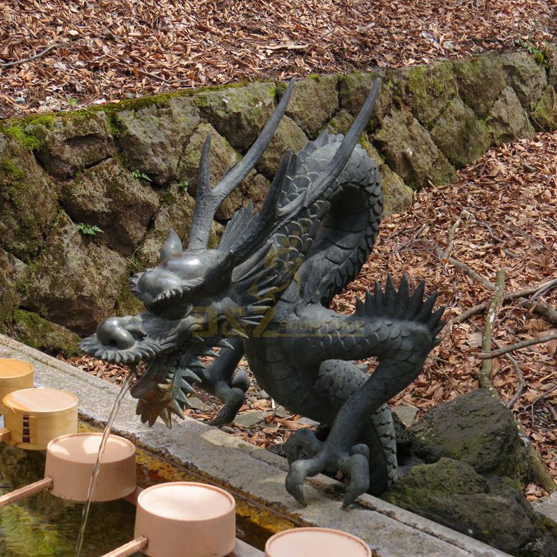 Garden Decor Bronze Brass Outdoor Large Dragon Water Fountain statues for sale