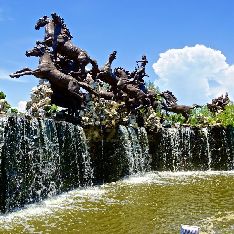 classic horse bronze fountains sculpture for decoration