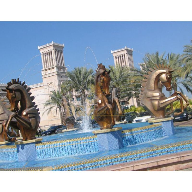 life size antique bronze fountain horse outdoor decorations