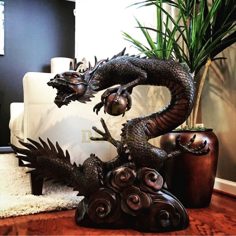 large outdoor bronze chinese dragon fountain statue for garden