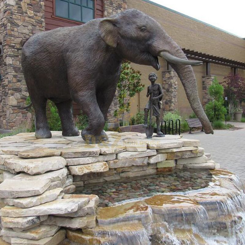 bronze casting life size contemporary elephant sculpture for fountain