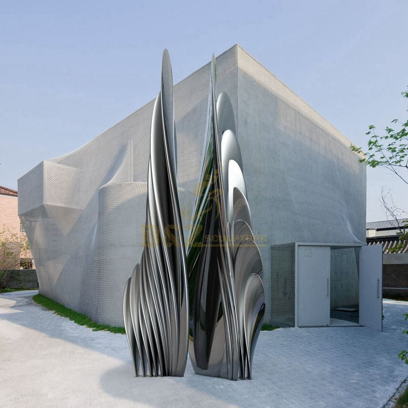 Design by famous artist Ken Kelleher Modern Metal Arts Abstract Stainless Steel Sculpture