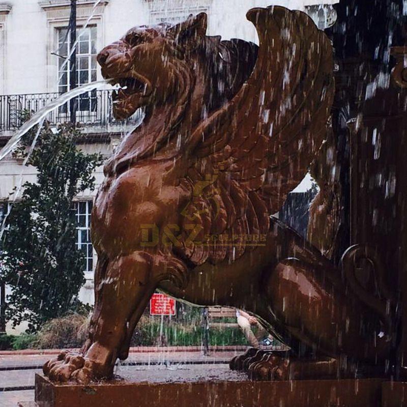Carved fountain decoration garden large outdoor bronze sculpture