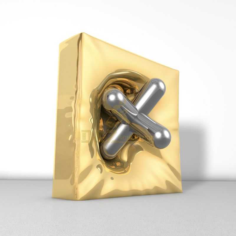 Design by famous artist Ken Kelleher Stainless Steel Geometric Cube Perforated Sculpture
