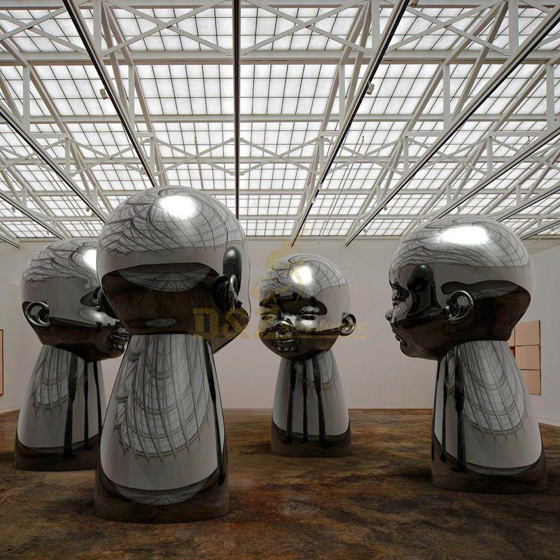Design by famous artist Ken Kelleher Stainless Steel human Art Figure Sculptures