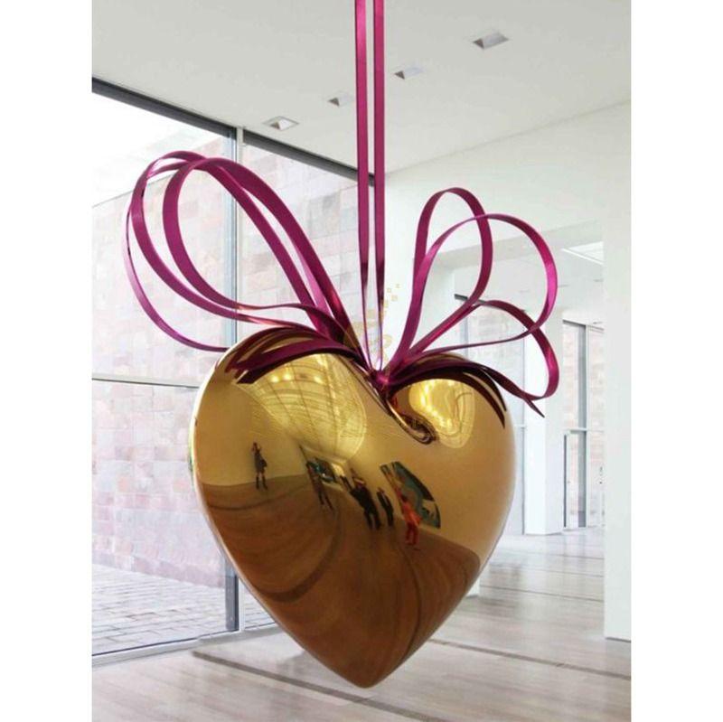 Modern Art Stainless Steel heart Sculpture