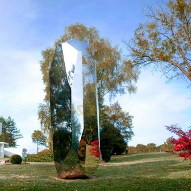 Garden Decoration Abstract Mirror Stainless Steel Sculpture