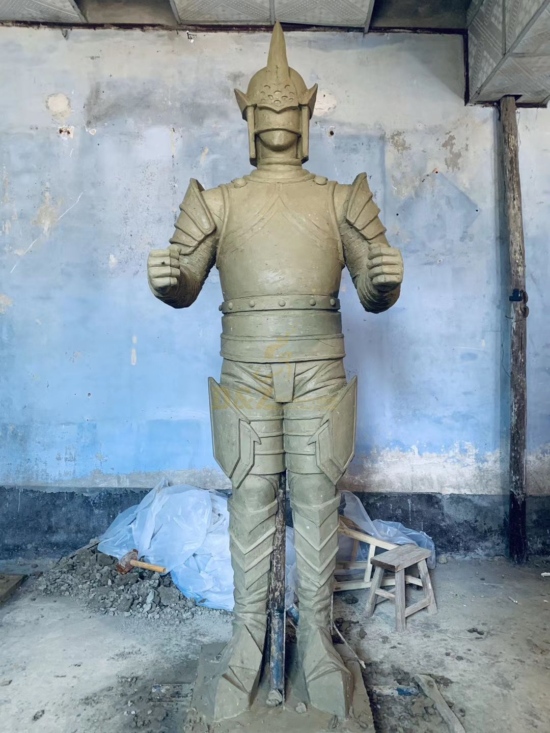 China Ancient Soldier Bronze Sculpture