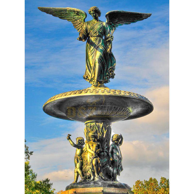 Lovely Garden Water Fountain Outdoor Bronze Sculpture