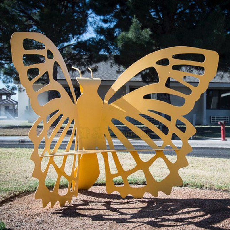 Outdoor Decoration Butterfly Chair Modern Art Sculpture Stainless Steel