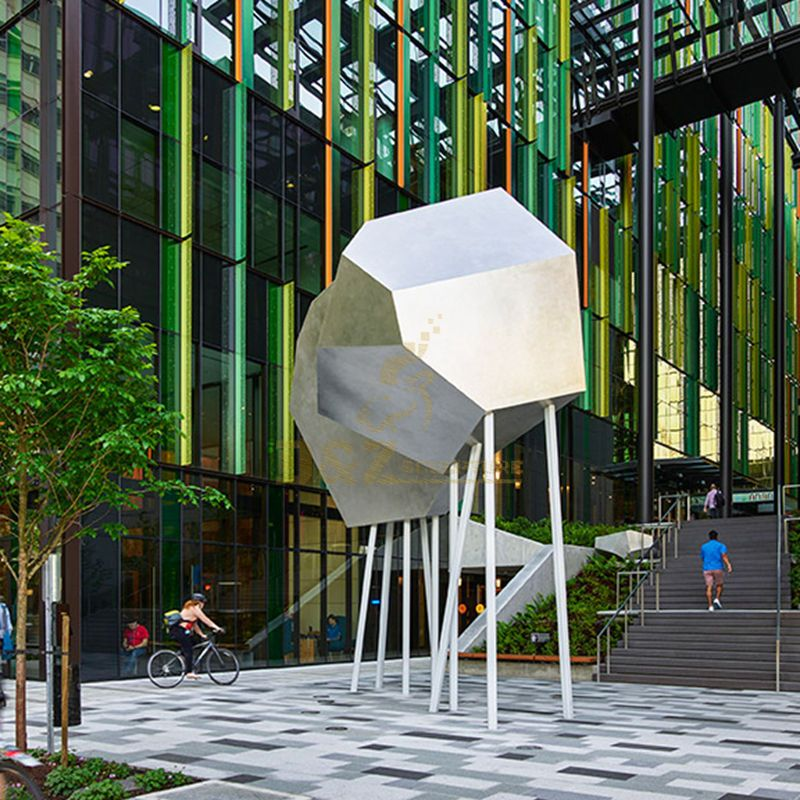 Outdoor Stainless Steel Geometric Sculpture Park Decoration