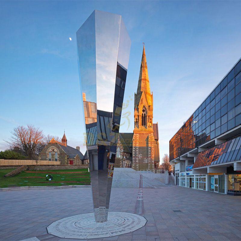 Simple Design Mirror Stainless Steel Metal Sculpture