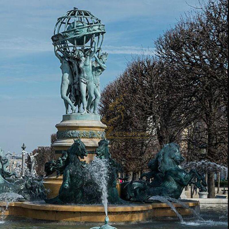 garden outdoor sculptures large bronze water fountain