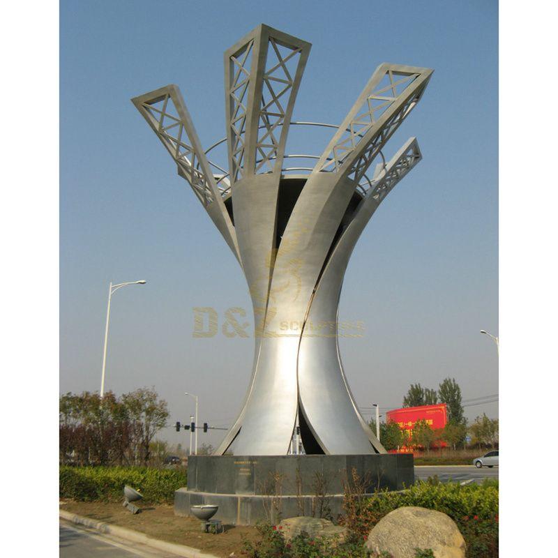 Large Outdoor Stainless Steel Modern Art Sculpture
