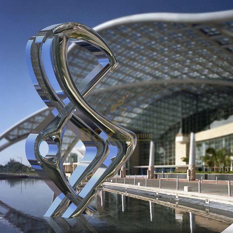Custom Made Outdoor Modern Metal Mirror Stainless Steel Garden Sculpture
