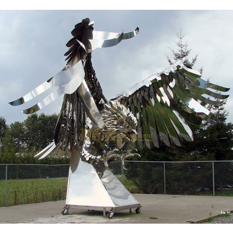 Outdoor Garden Stainless Steel Animal Eagle Sculpture