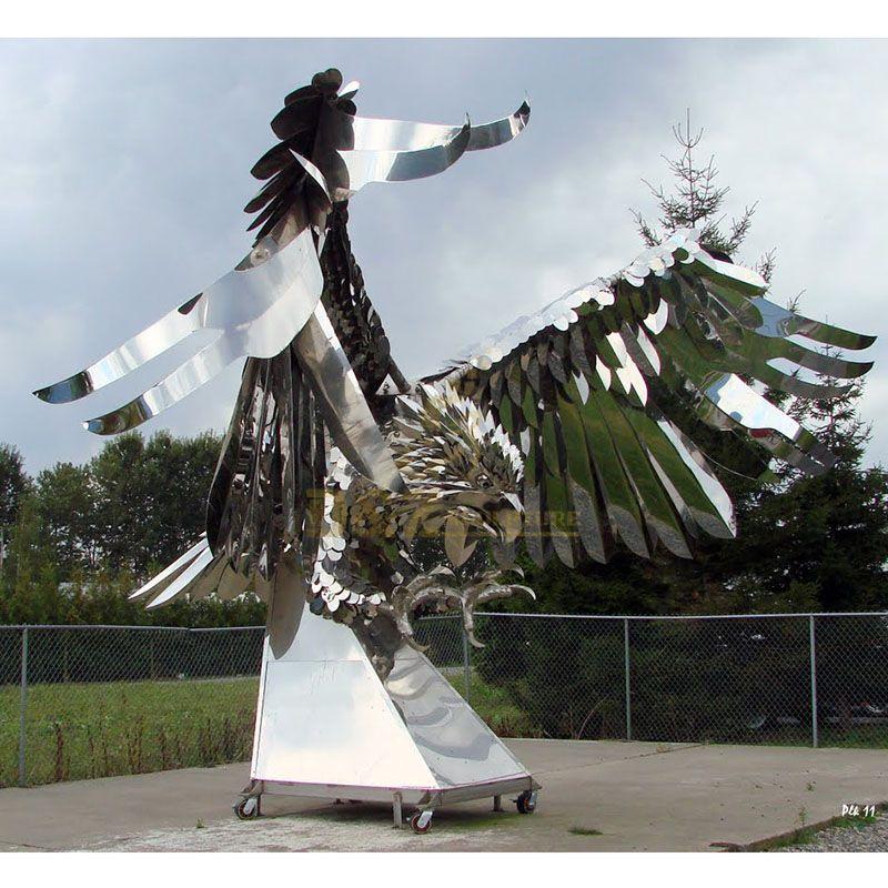 Outdoor Garden Stainless Steel Animal Eagle Sculpture
