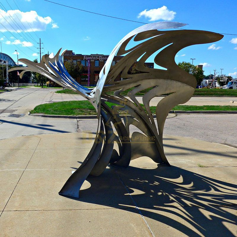 Outdoor Garden Metal Flower Statue Stainless Steel Sculpture