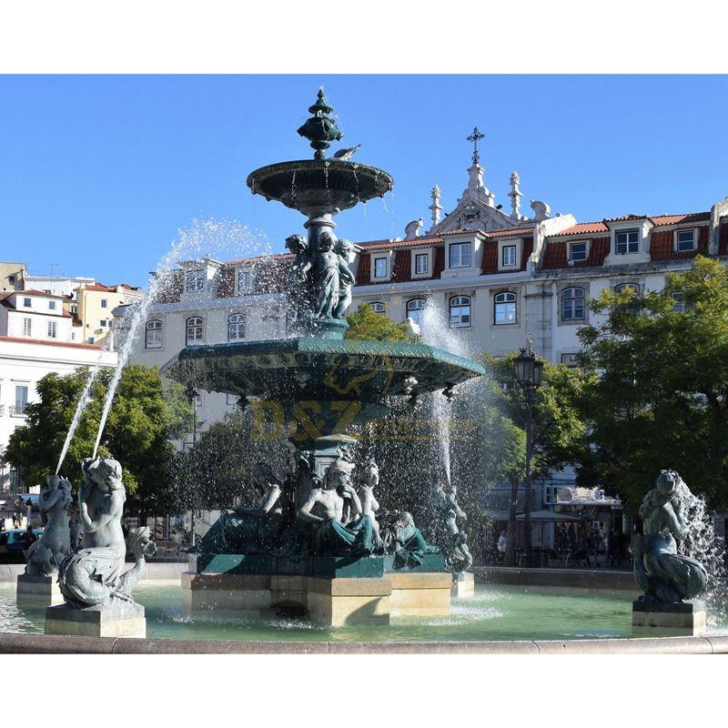 Large Outdoor European Style Bronze Water Fountain Sculpture