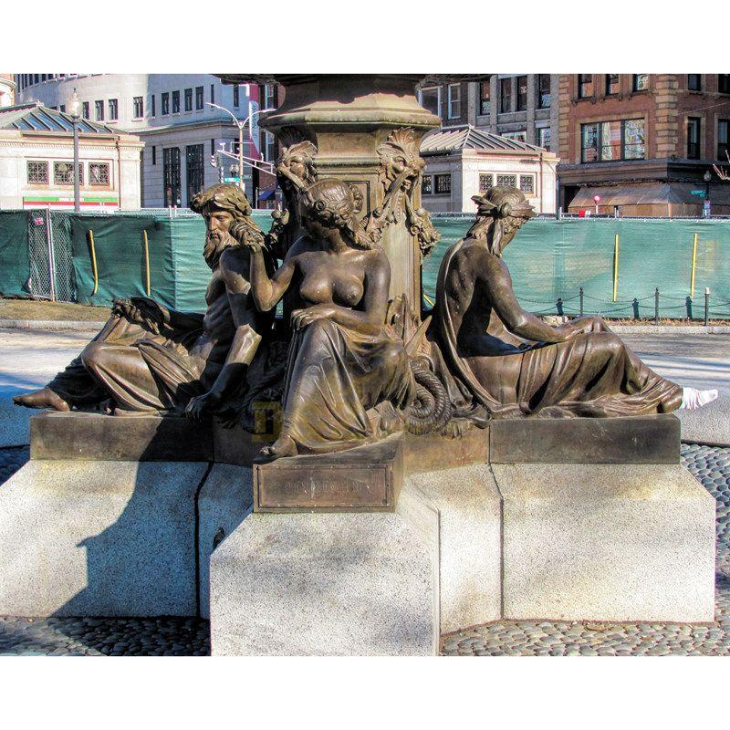 Large cast bronze garden statue fountain sculpture